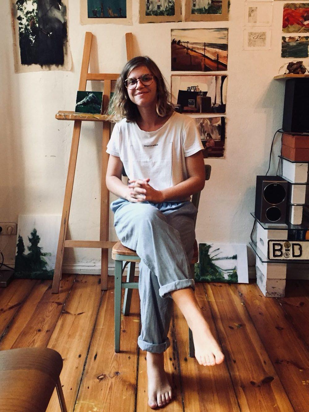 Luisa Zimmer Ritter in ihrem Atelier